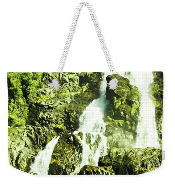 Rocky Mountain Waterfall Weekender Tote Bag