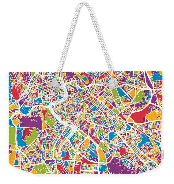 Rome Italy Street Map Weekender Tote Bag