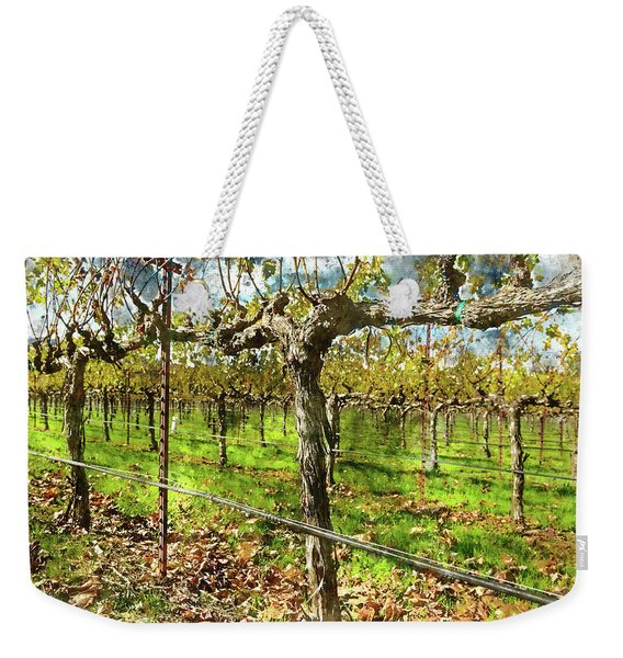 Rows Of Grapevines In Napa Valley Caliofnia Weekender Tote Bag