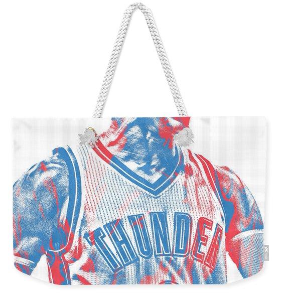 Russell Westbrook Oklahoma City Thunder Pixel Art 31 Weekender Tote Bag