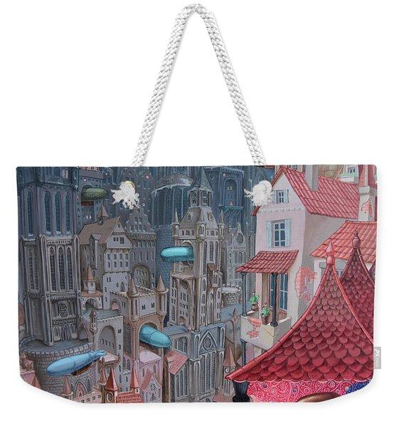 Saga Of The City Of Zeppelins Weekender Tote Bag