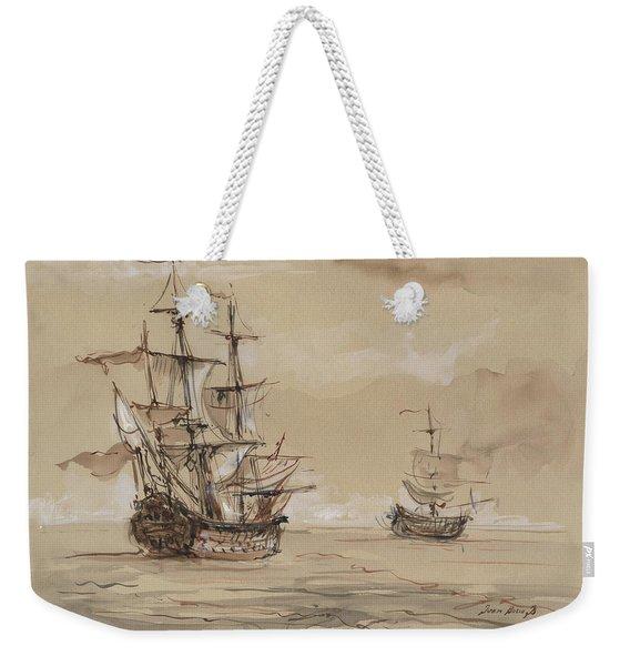 Sail Ships Weekender Tote Bag