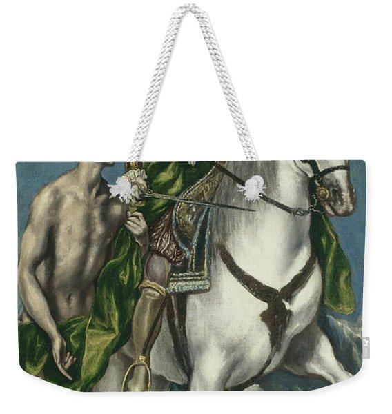 Saint Martin And The Beggar Weekender Tote Bag