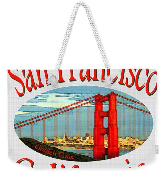 San Francisco California Design Weekender Tote Bag