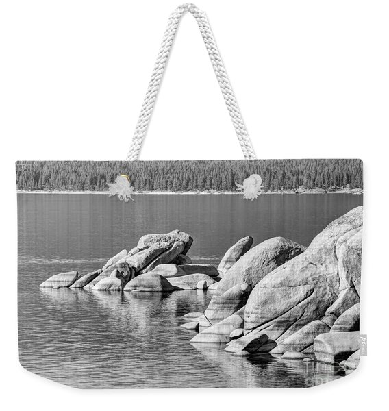 Sand Harbor Lake Tahoe Bw Weekender Tote Bag