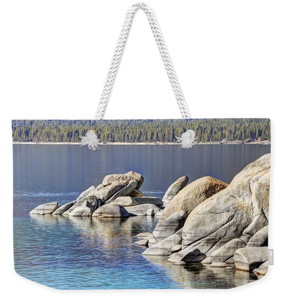 Sand Harbor Lake Tahoe Looking North Weekender Tote Bag