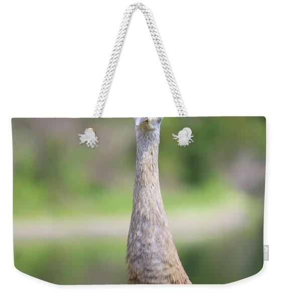 Sandhill Standing Tall Weekender Tote Bag