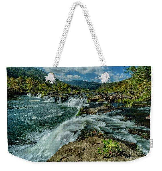Sandstone Falls New River Weekender Tote Bag