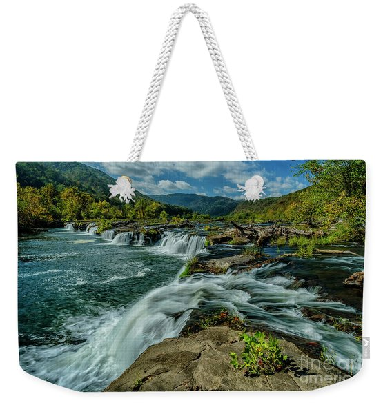 Sandstone Falls New River Weekender Tote Bag