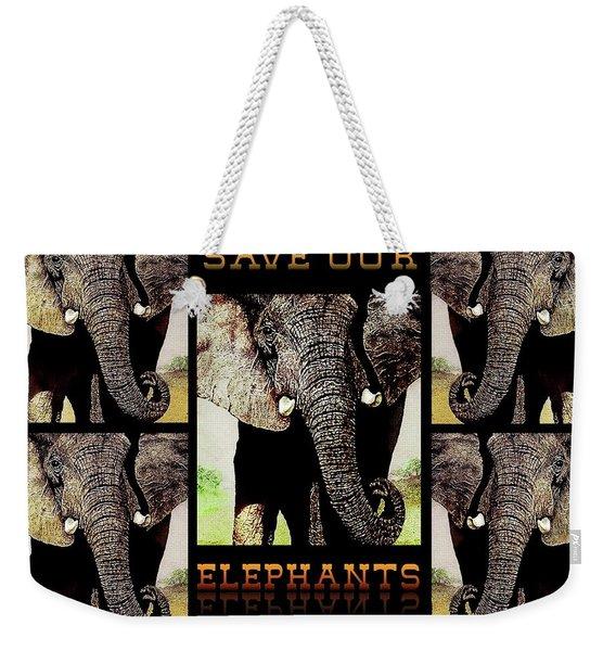 Save  Our  Endangered  Elephants Weekender Tote Bag