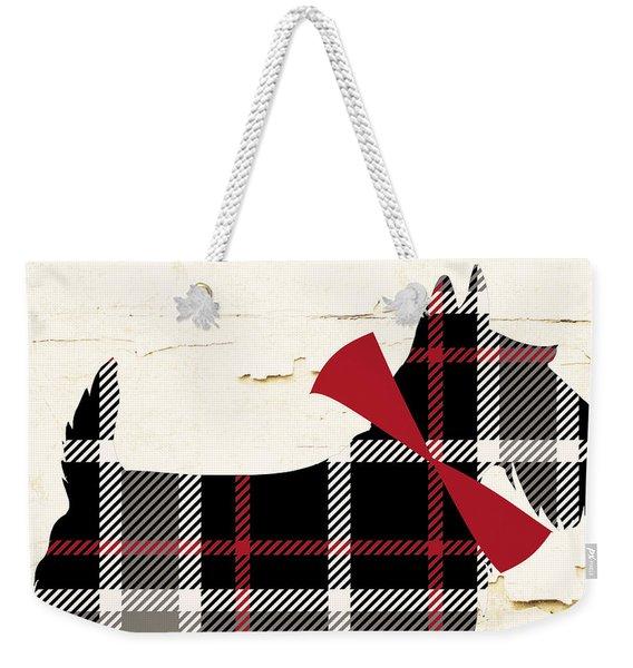 Scottish Terrier Tartan Plaid Weekender Tote Bag