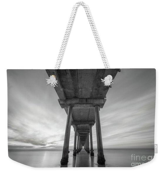 Scripps Pier Bw  Weekender Tote Bag