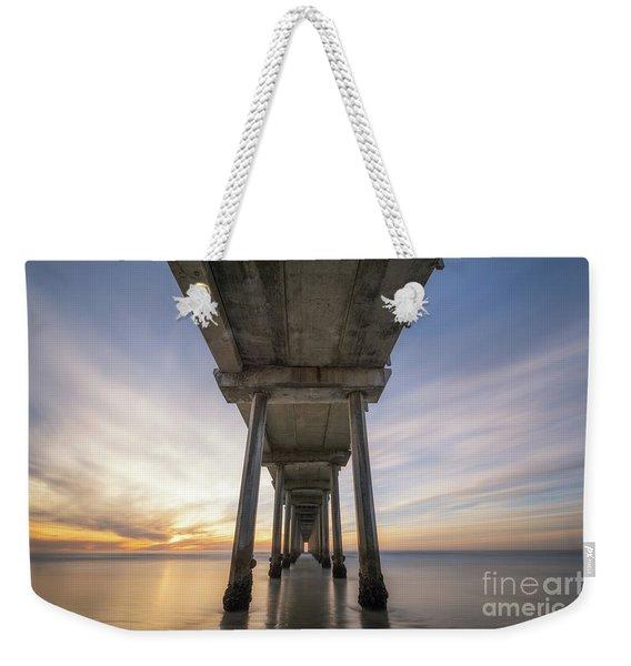 Scripps Pier Sunset  Weekender Tote Bag