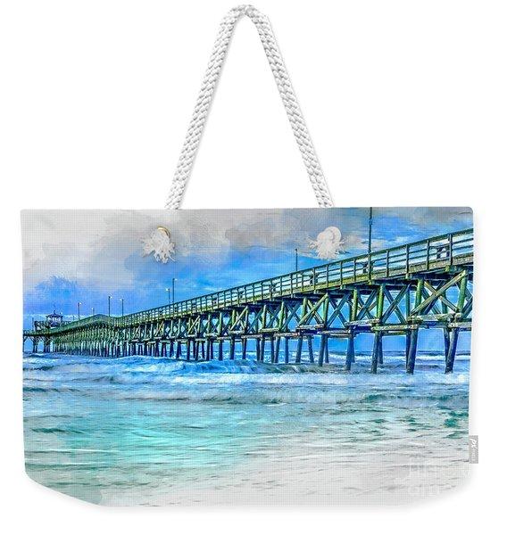 Sea Blue - Cherry Grove Pier Weekender Tote Bag
