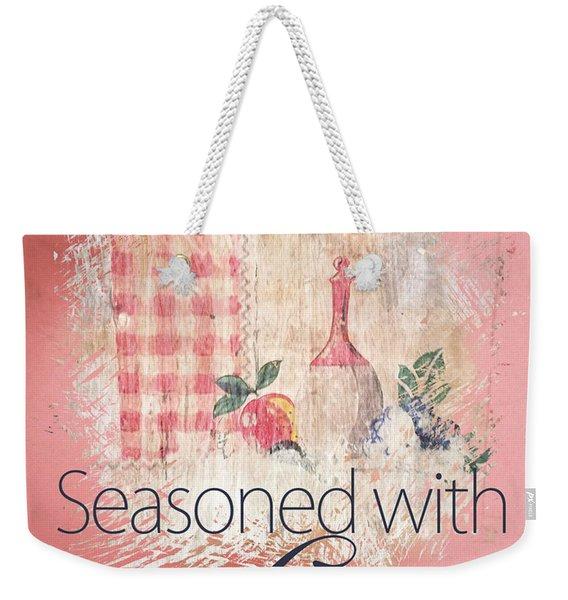 Seasoned With Love Weekender Tote Bag