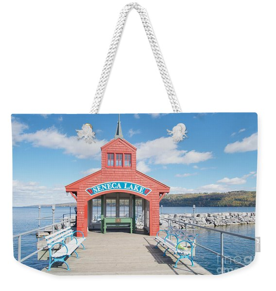 Weekender Tote Bag featuring the photograph Seneca Lake by William Norton