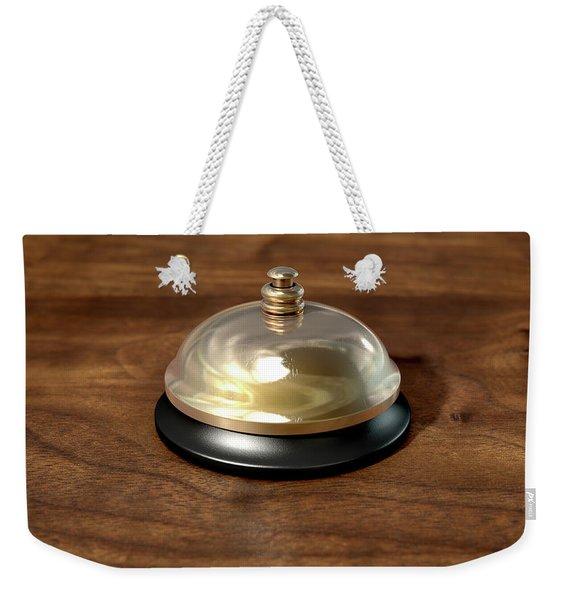 Service Bell Brass Weekender Tote Bag