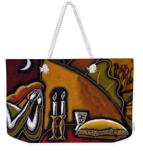 Shabbat Shalom Weekender Tote Bag