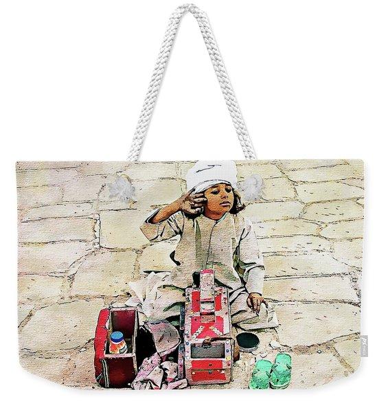 Shoeshine Girl - Nile River, Egypt Weekender Tote Bag