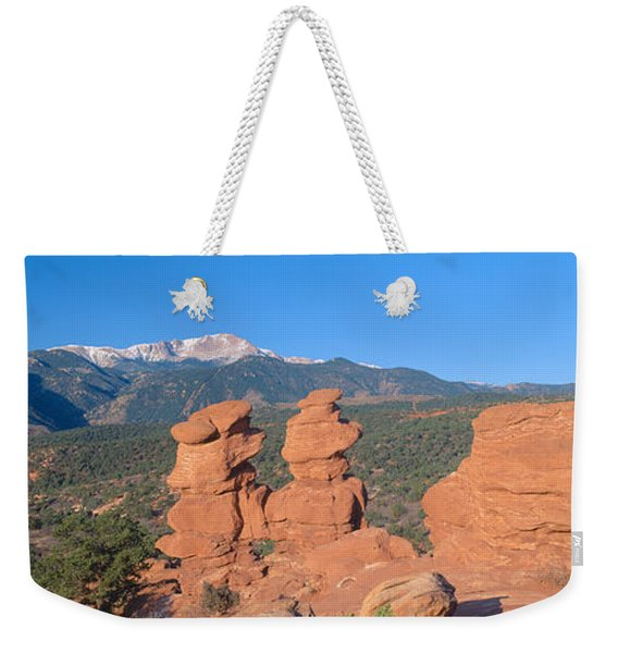 Siamese Twins And Garden Of The Gods Weekender Tote Bag