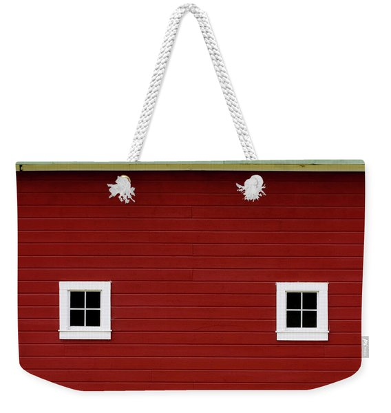 Side Of A Big Red Barn In The Palouse Weekender Tote Bag