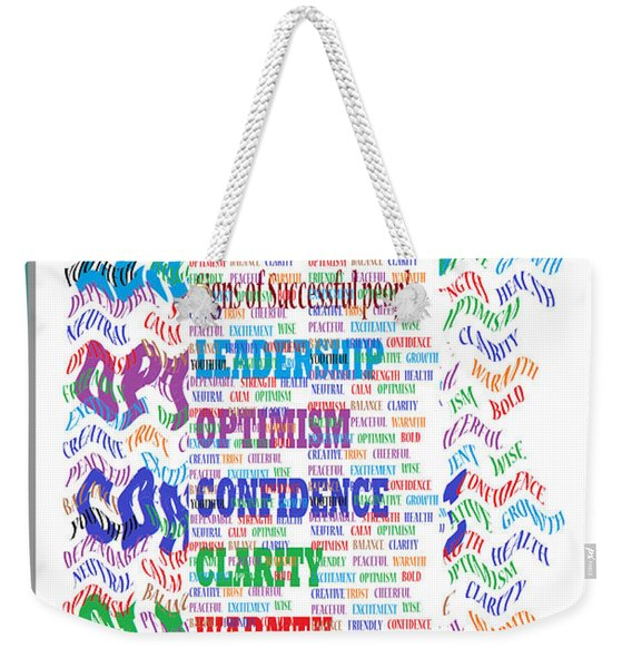 Signs Of Successful People A Texto-graphic Of Leadership Qualities Poster Weekender Tote Bag