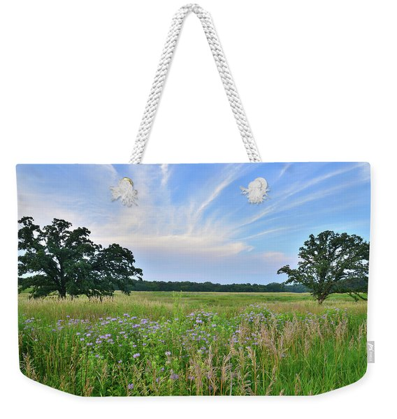 Silver Creek Conservation Area Sunset Weekender Tote Bag