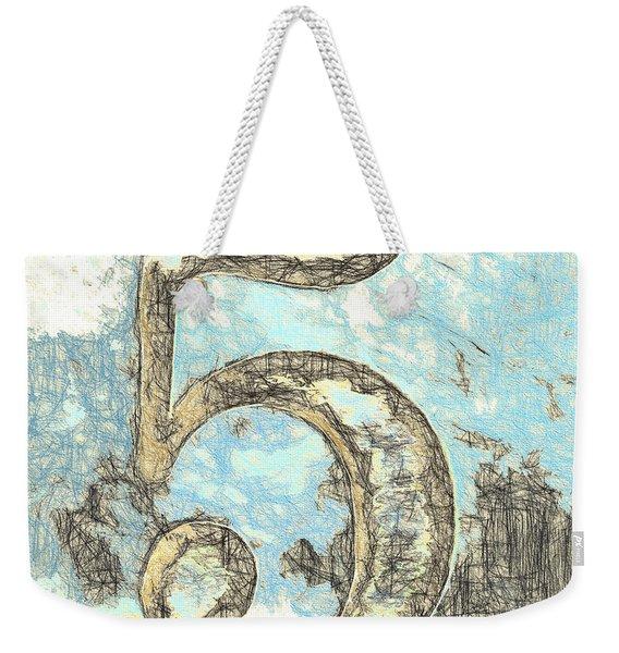 Sketchy Five Drawing Weekender Tote Bag