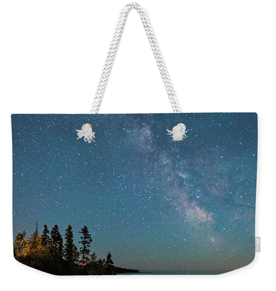 Weekender Tote Bag featuring the photograph Sky Light by Doug Gibbons
