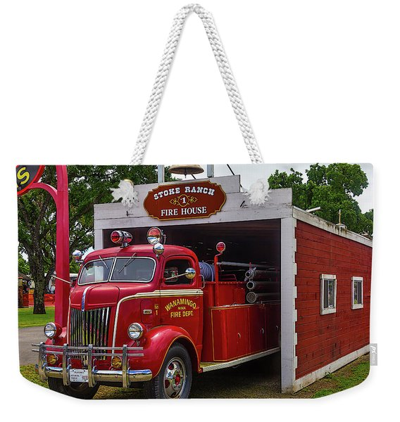 Small Fire House 1 Weekender Tote Bag