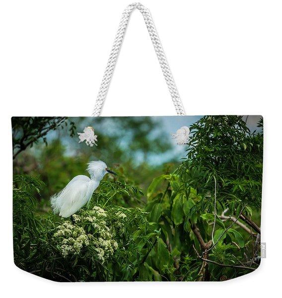 Snowy Weekender Tote Bag