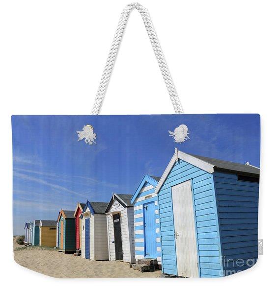 Southwold Beach Huts Weekender Tote Bag