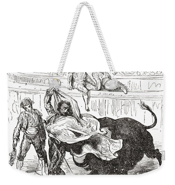 Spain. After A Work By Gustave Dore Weekender Tote Bag