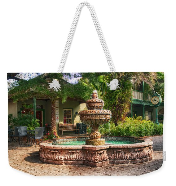 Spanish Fountain Weekender Tote Bag