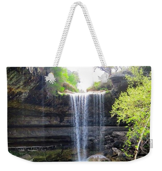 Spent The Day At Hamilton Pool. Yes Weekender Tote Bag