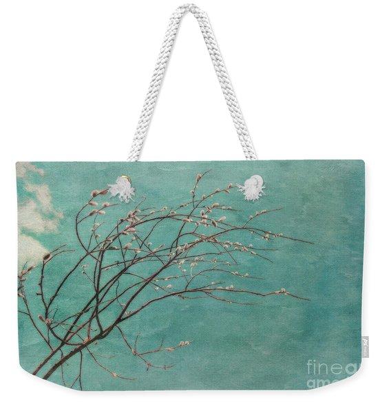Spring Blues Weekender Tote Bag