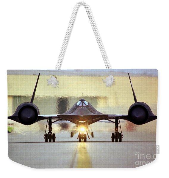 Sr-71 Blackbird, 1990s Weekender Tote Bag