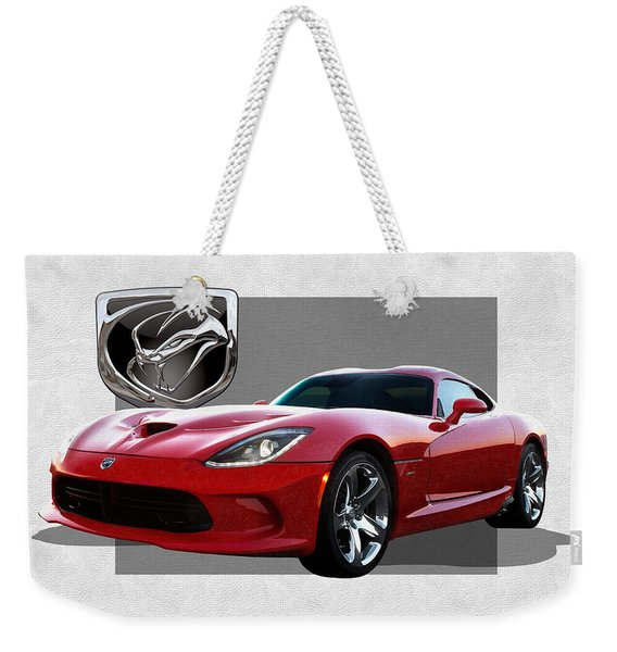S R T  Viper With  3 D  Badge  Weekender Tote Bag