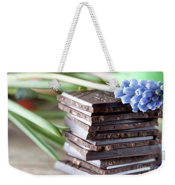 Stack Of Chocolate Weekender Tote Bag