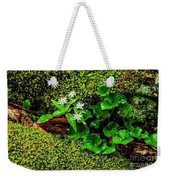 Star Chickweed Mossy Rock Weekender Tote Bag