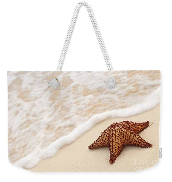 Starfish And Ocean Wave Weekender Tote Bag