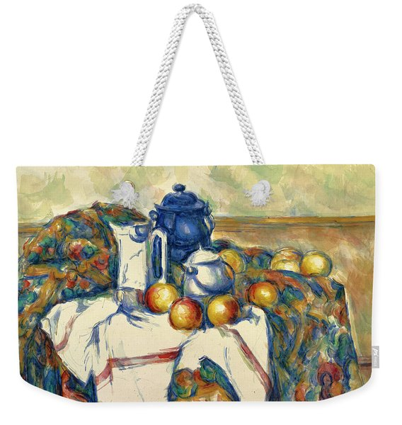 Still Life With Blue Pot Weekender Tote Bag