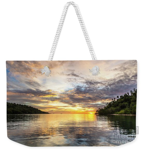 Stunning Sunset In The Togian Islands In Sulawesi Weekender Tote Bag