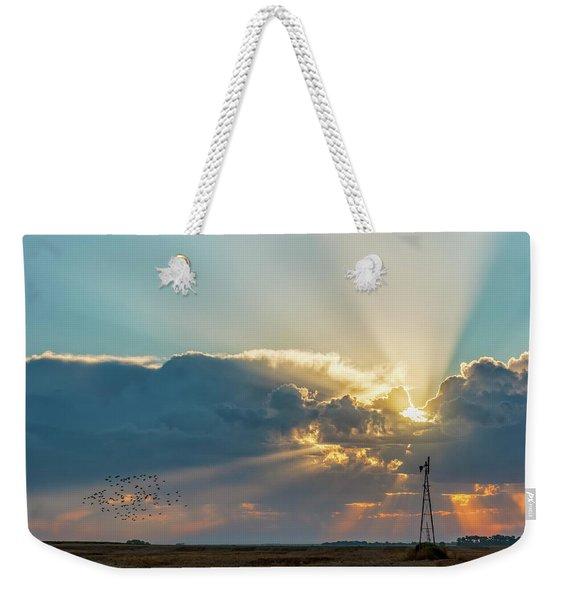 Sunrise And Windmill -01 Weekender Tote Bag