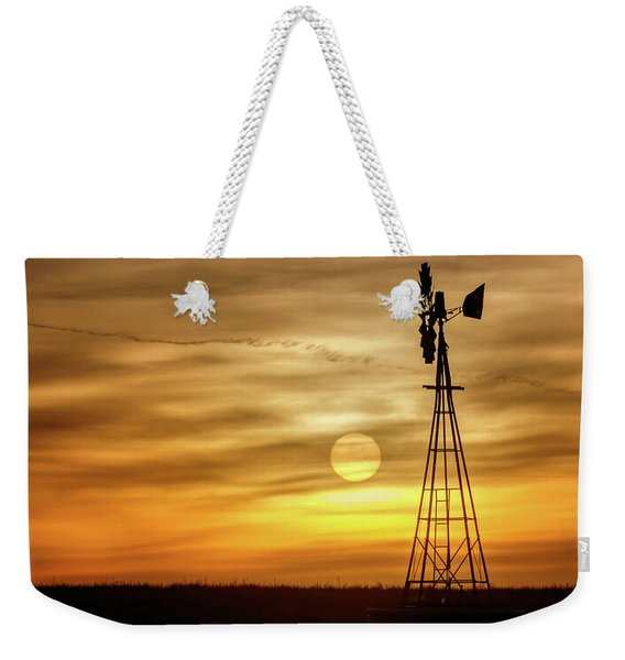 Sunset And Windmill Weekender Tote Bag