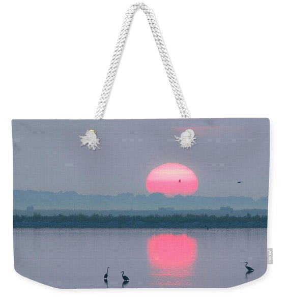 Sunrise At Cheyenne Bottoms -01 Weekender Tote Bag