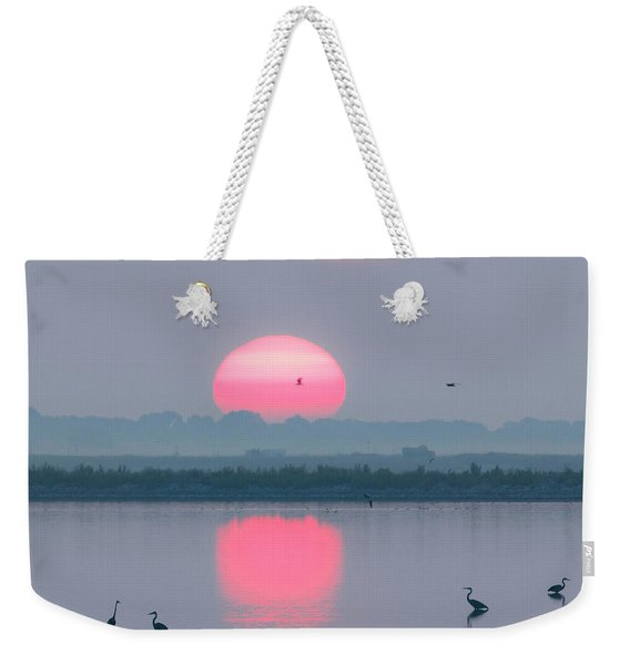 Sunrise At Cheyenne Bottoms -02 Weekender Tote Bag