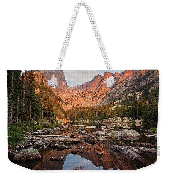 Dream Lake Sunrise Weekender Tote Bag