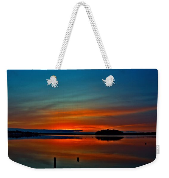 Sunrise Onset Pier Weekender Tote Bag