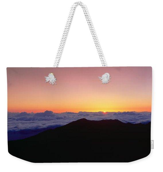 Sunrise Over Haleakala Volcano Summit Weekender Tote Bag